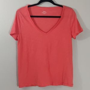J. Crew | Vintage Cotton Coral Tee / Size: Medium